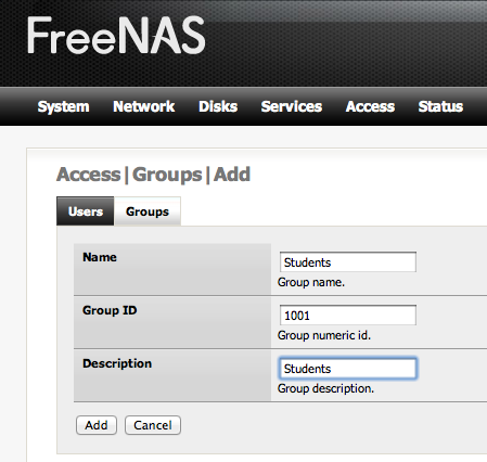 Adding Multiple Users to FreeNAS Part 2 of 2 | tfnp